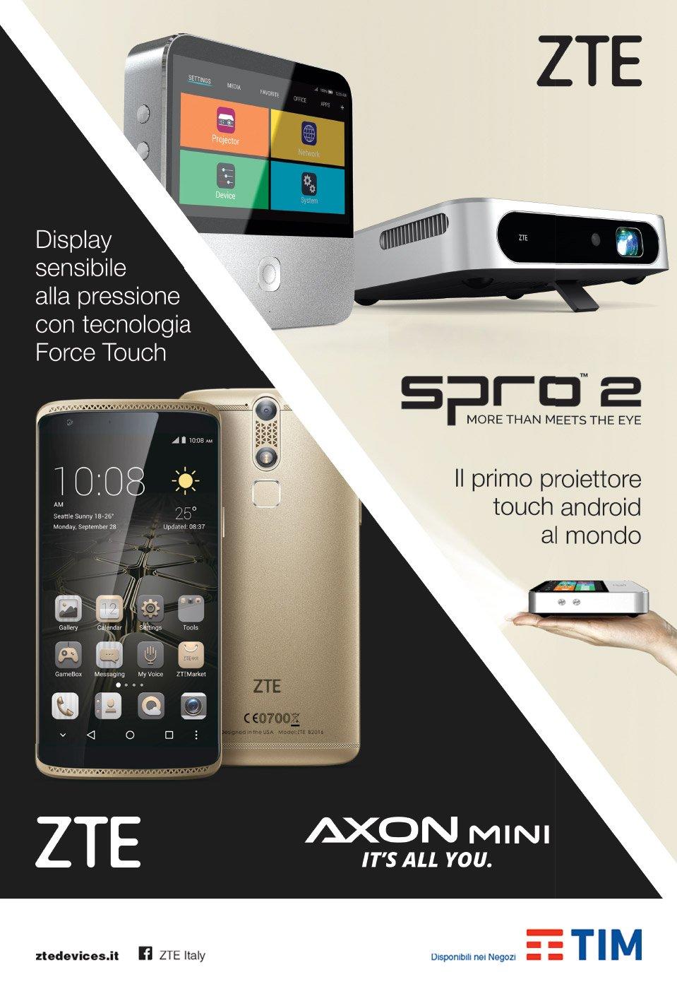 pagina pubblicitaria smartphone proiettore