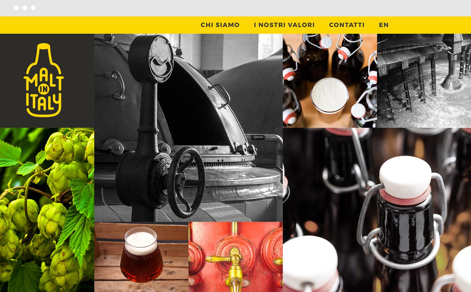 homepage griglia fotografica produzione birra